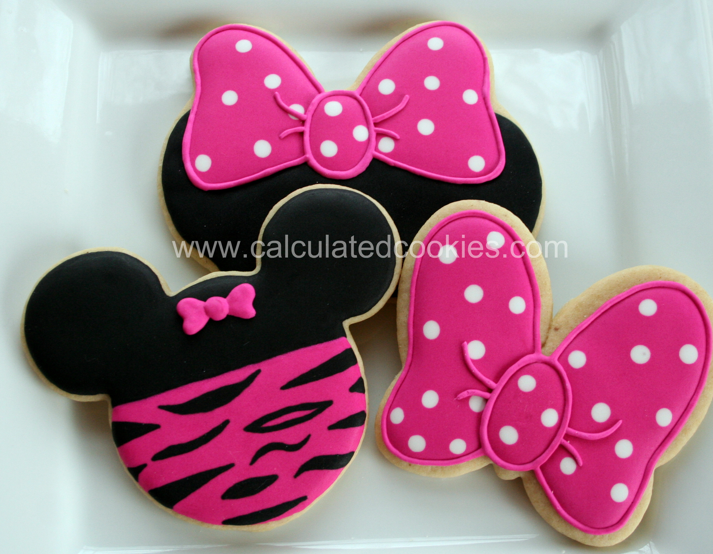 Minnie Mouse Sugar Cookies Calculated CookiesCalculated Cookies